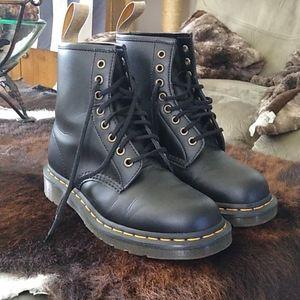 VEGAN Doc Martens black combat boots